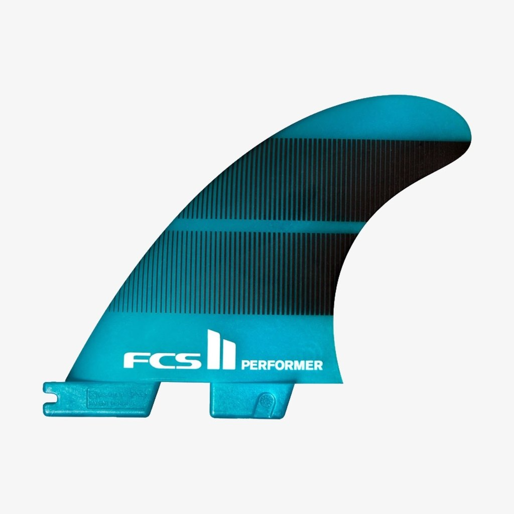 FCS FCS II Performer Neo Glass Tri Fins Teal Gradient Large