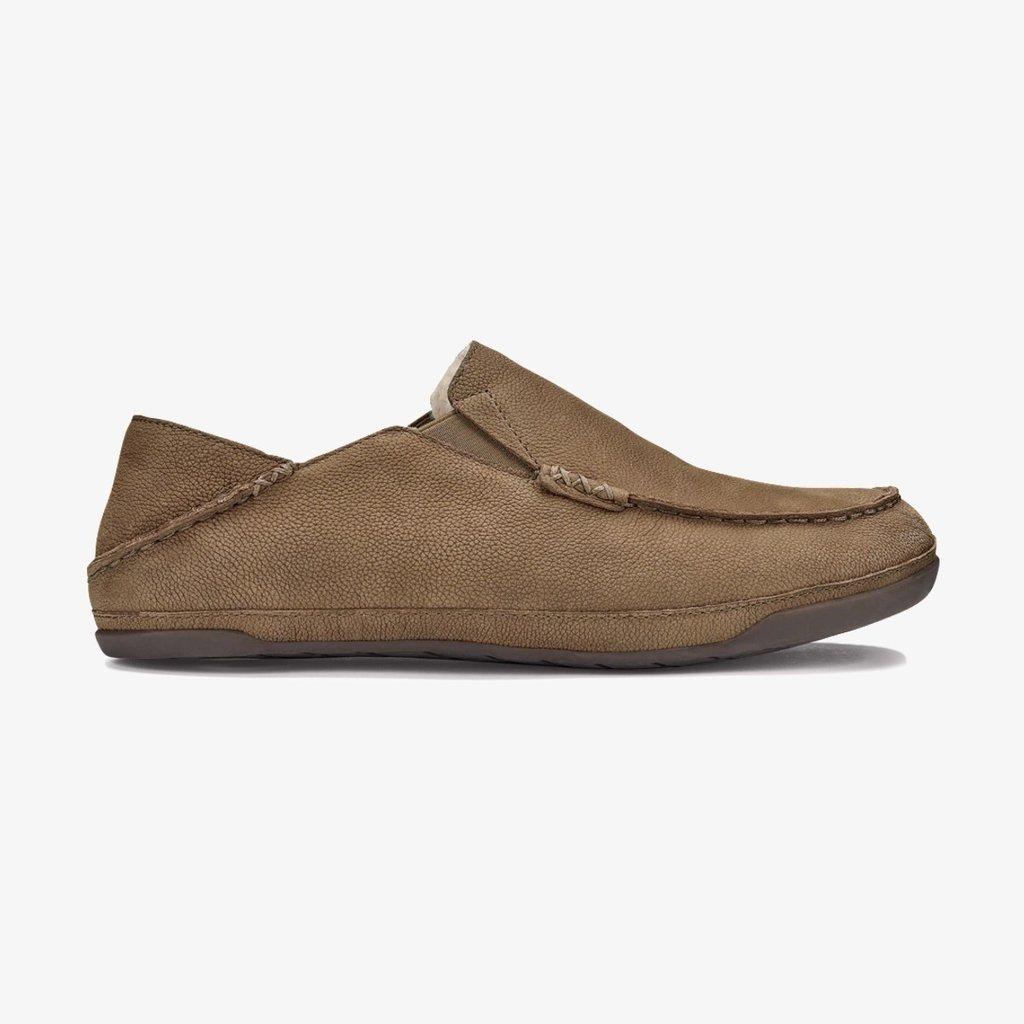 OluKai OluKai Kipuka Hulu Nubuck Leather Slippers Toffee
