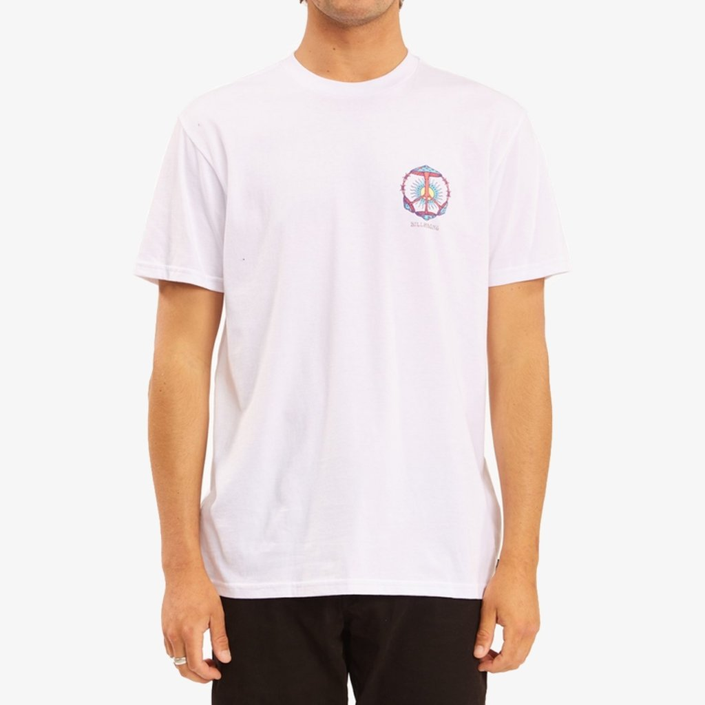 Billabong Billabong Shroom Peace Short Sleeve T-Shirt White