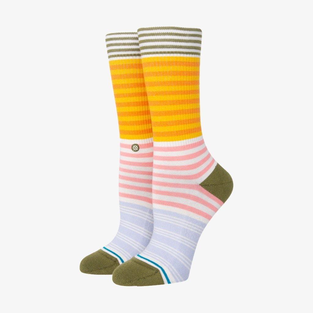Stance Stance Sunshine Stripe Crew Socks Off White M