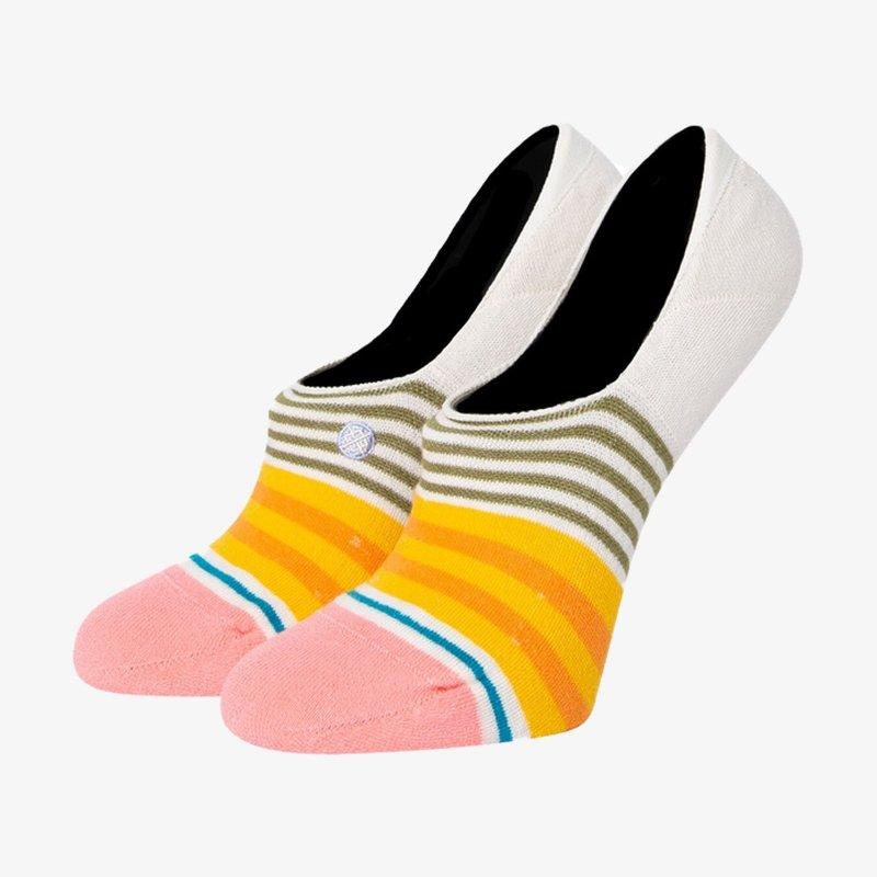 Stance Stance Sunshine Stripe No Show Socks Off White M