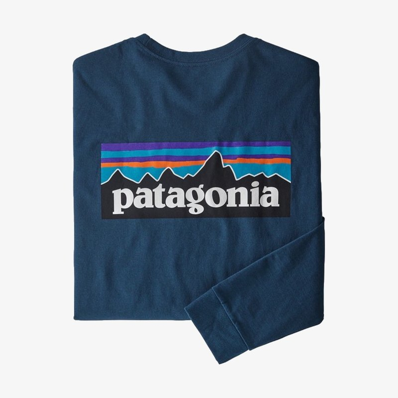 Patagonia Patagonia Men's Long-Sleeved P-6 Logo Responsibili-Tee Crater Blue