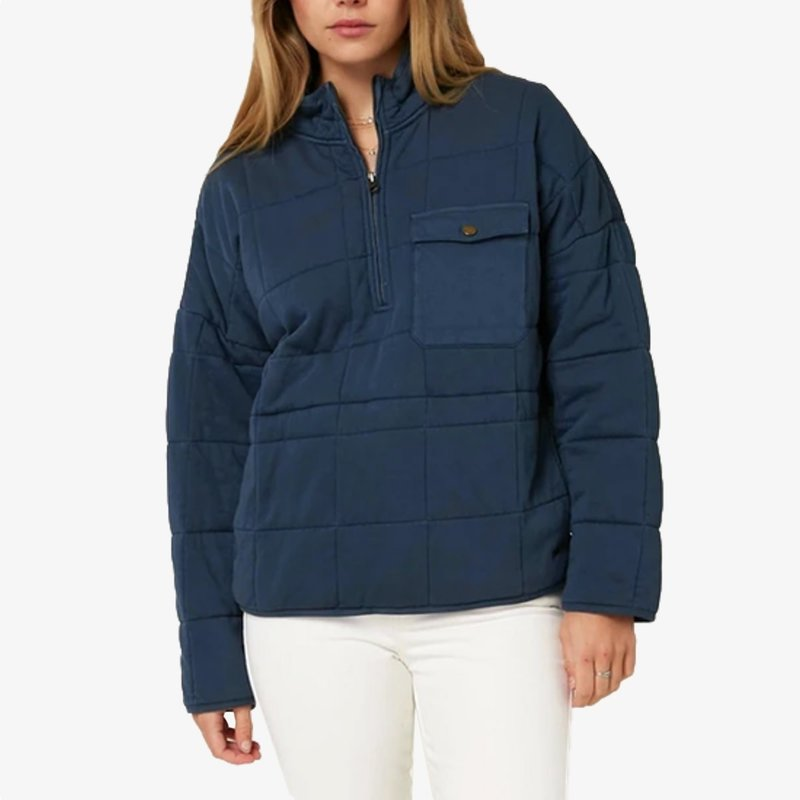 O'Neill O'Neill Mable Quilted Pullover Jacket Slate