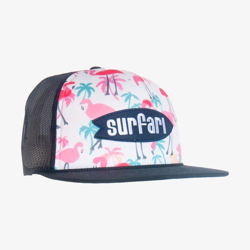 Surfari Surfari Logo Flamingo Snapback Trucker