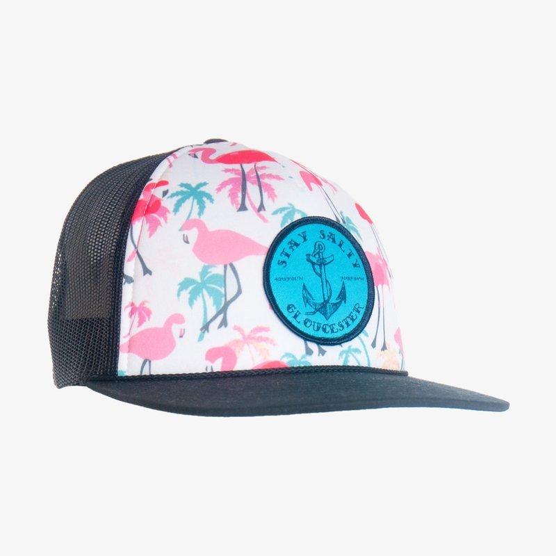 Surfari Surfari Stay Salty Trucker Hat Flamingo