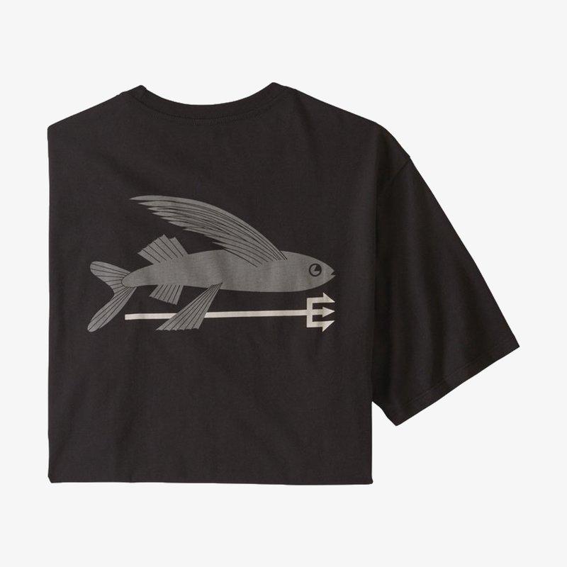 Patagonia Patagonia Men's Flying Fish Organic T-Shirt Black