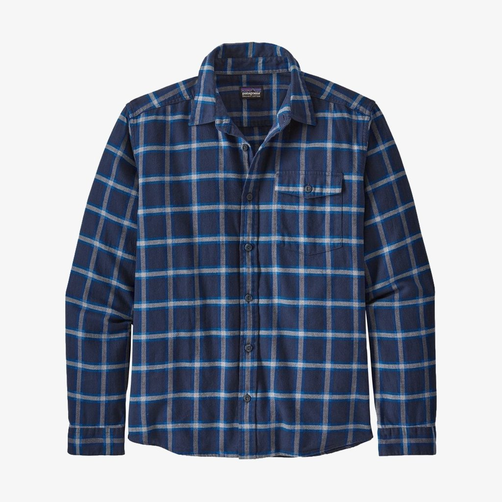 Patagonia Patagonia Men's Long Sleeved Lightweight Fjord Flannel Shirt Grange New Navy