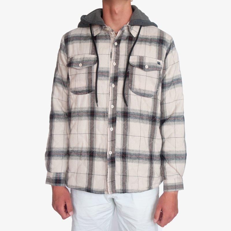 Surfari Surfari Dawn Patrol Sherpa Lined Quilted Flannel Jacket Sand