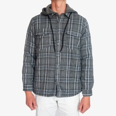 Surfari Surfari Cottonwood Sherpa Lined Quilted Flannel Charcoal