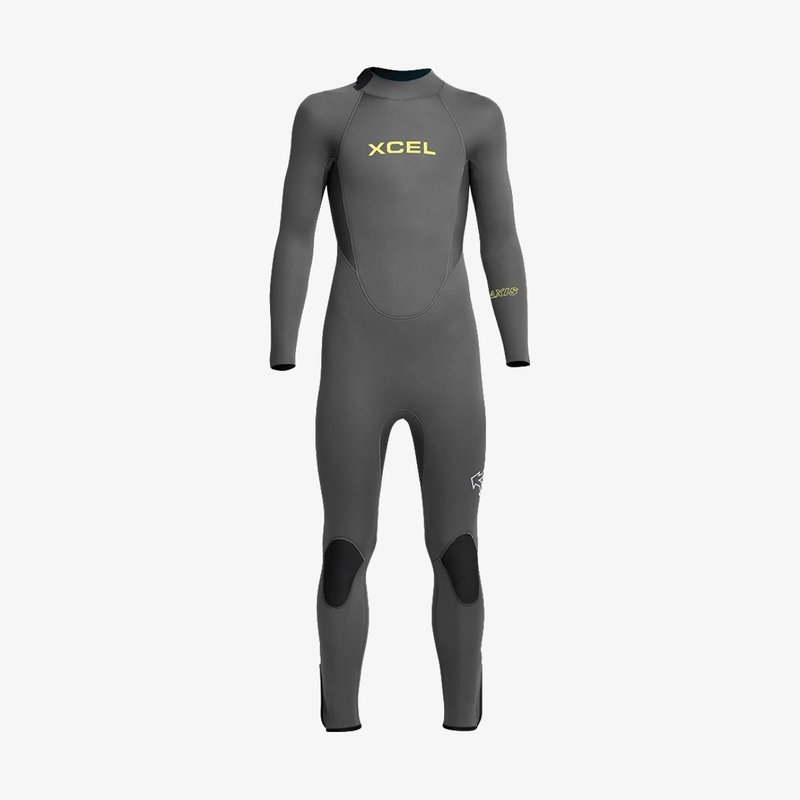XCEL XCEL Youth Axis Back Zip 4/3mm Full Wetsuit Grey