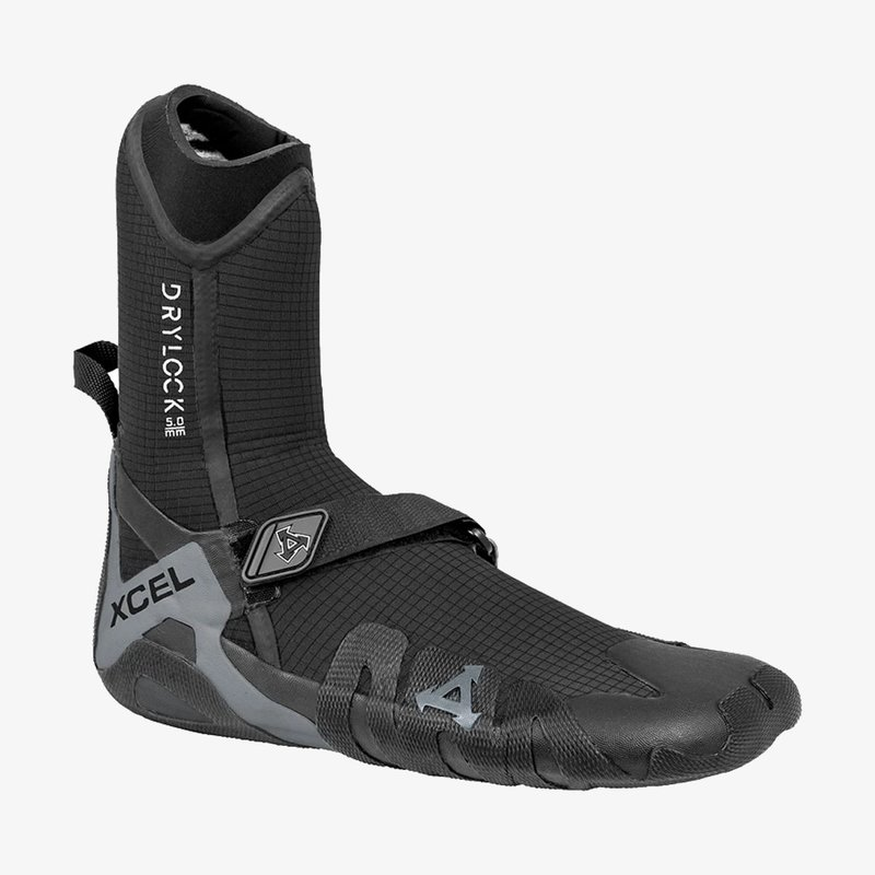 XCEL XCEL Drylock 5mm Round Toe Boot Black/Grey