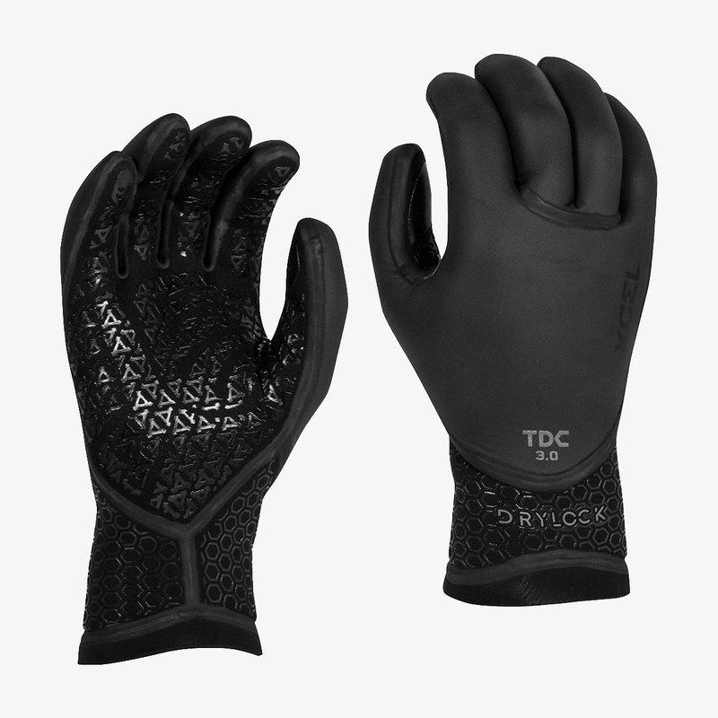 XCEL XCEL Drylock 3mm Texture Skin 5 Finger Glove Black
