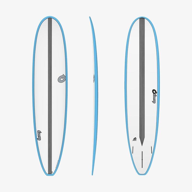 "Torq 8'6"" Torq Longboard White + Blue + Carbon Strip"