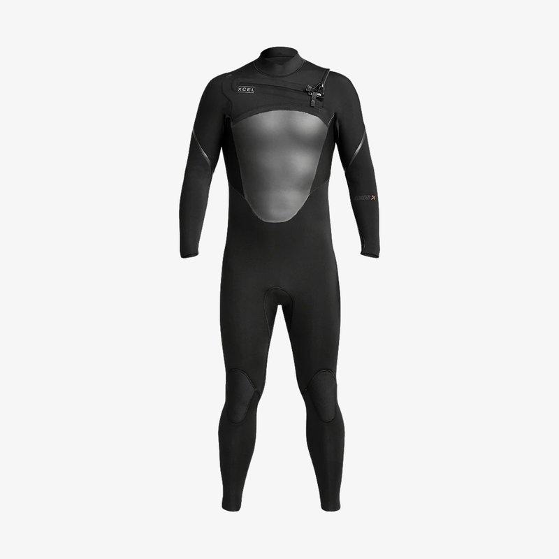 XCEL XCEL Men's 3/2mm Axis X  Front Zip Fullsuit Black