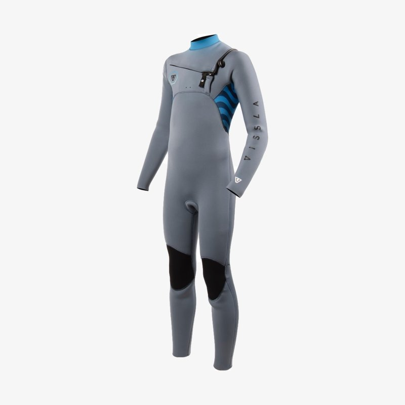 Vissla Vissla 7 Seas Shredder 4/3mm Boys Fullsuit Grey
