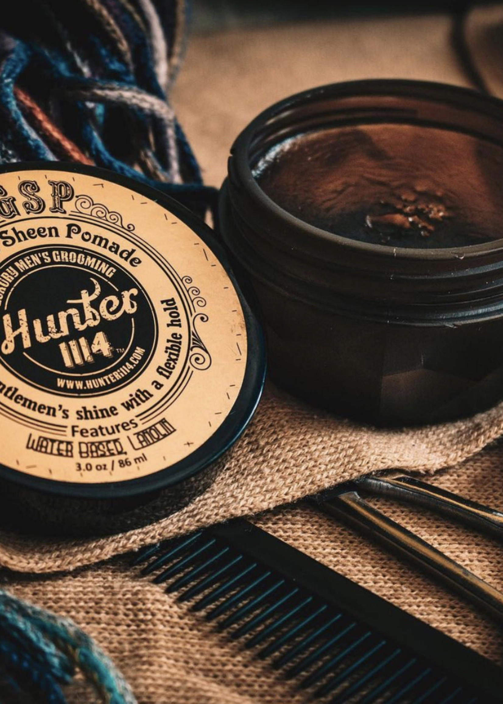 Hunter1114 Hunter 1114- Glass sheen pomade-2.8oz