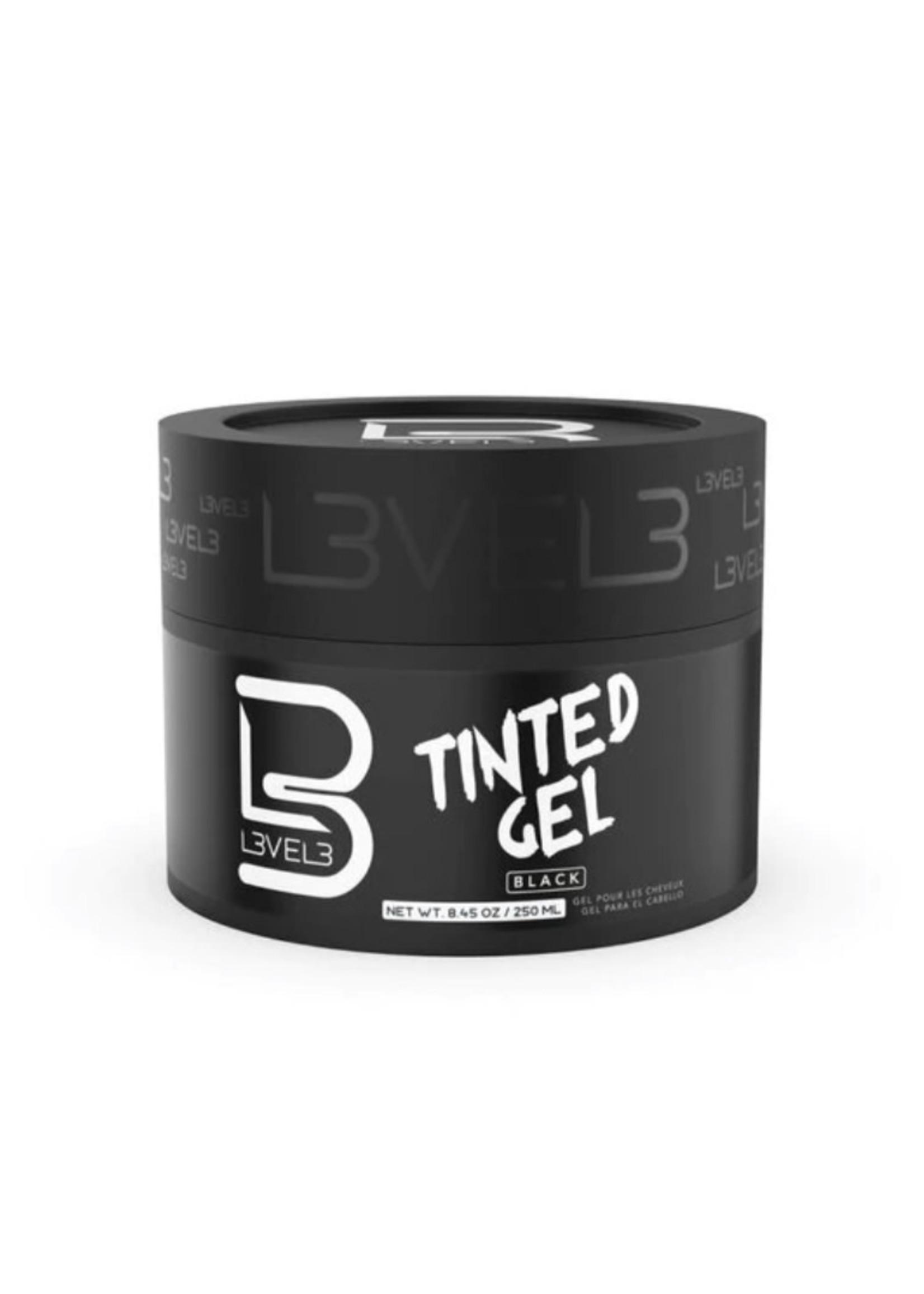 Level 3 L3 Tinted Hair Gel Black-250ML