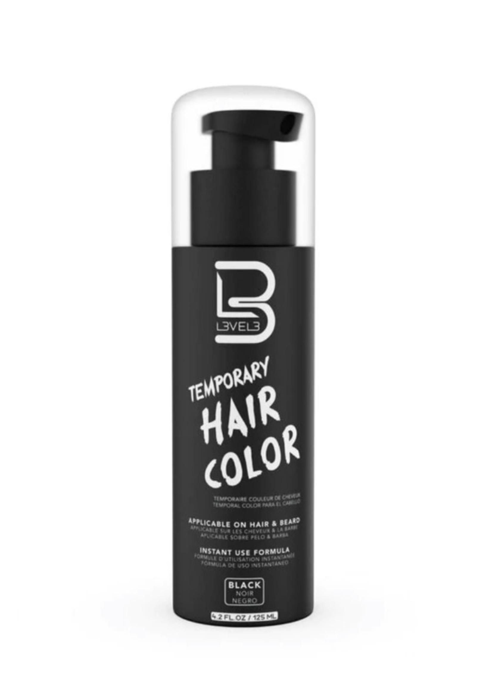 Level 3 L3 Temporary Beard Color Black Dye-100ML