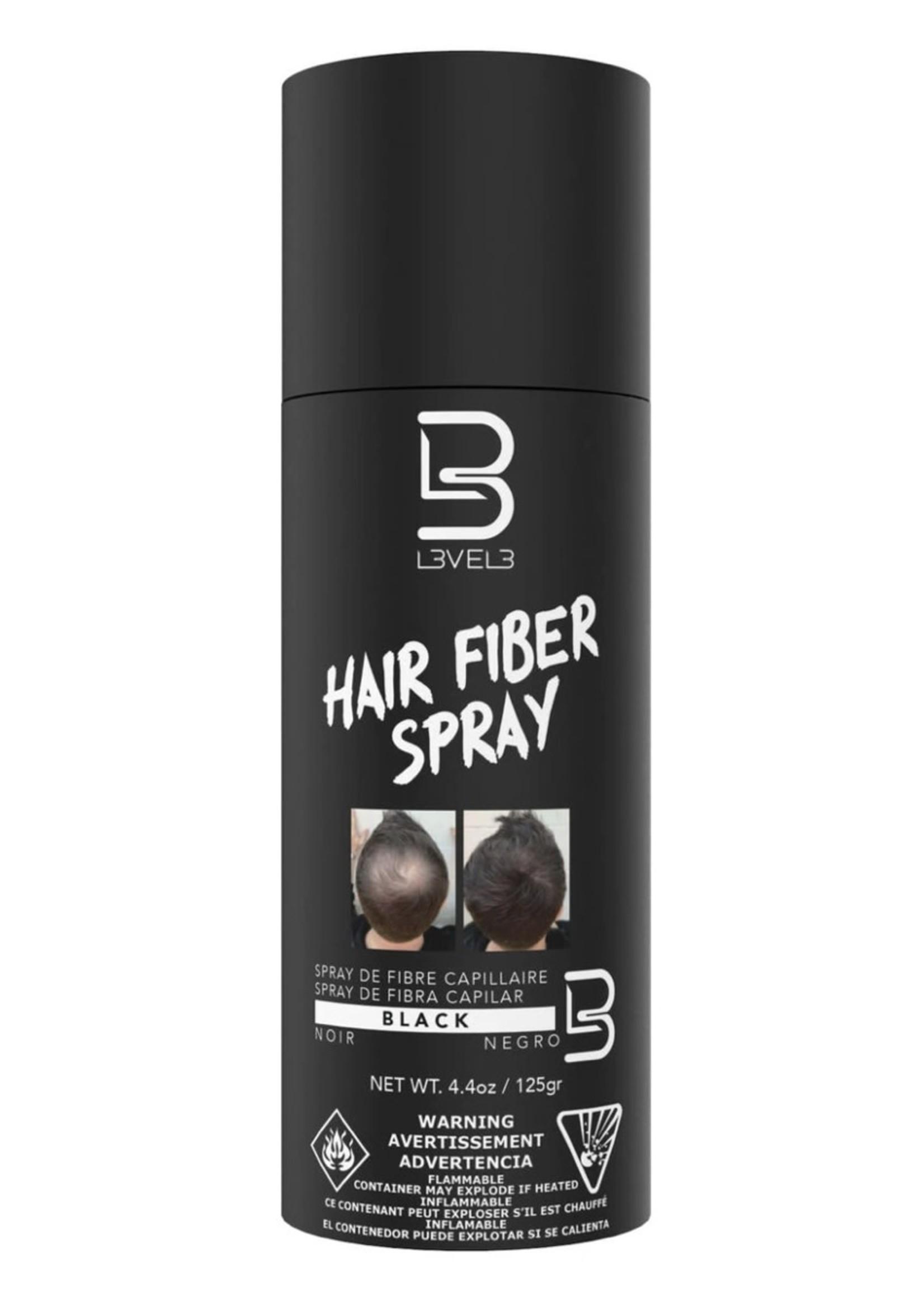 Level 3 L3 Black Hair Fiber Spray