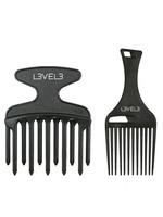 Level 3 L3 Hair Pick Comb Set