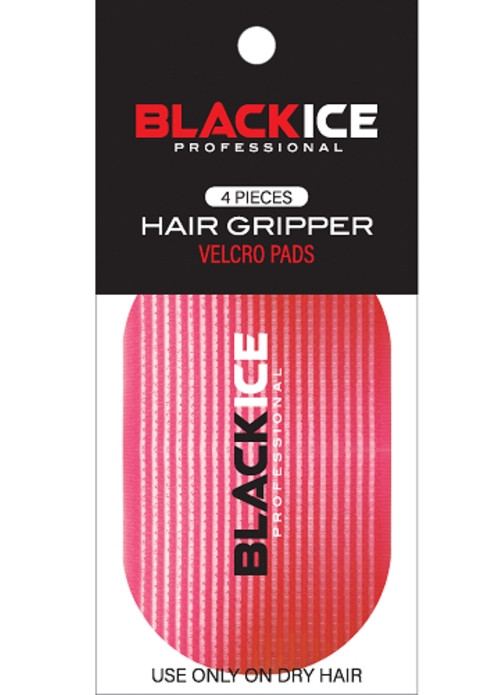 Black Ice Hair Gripper, Red