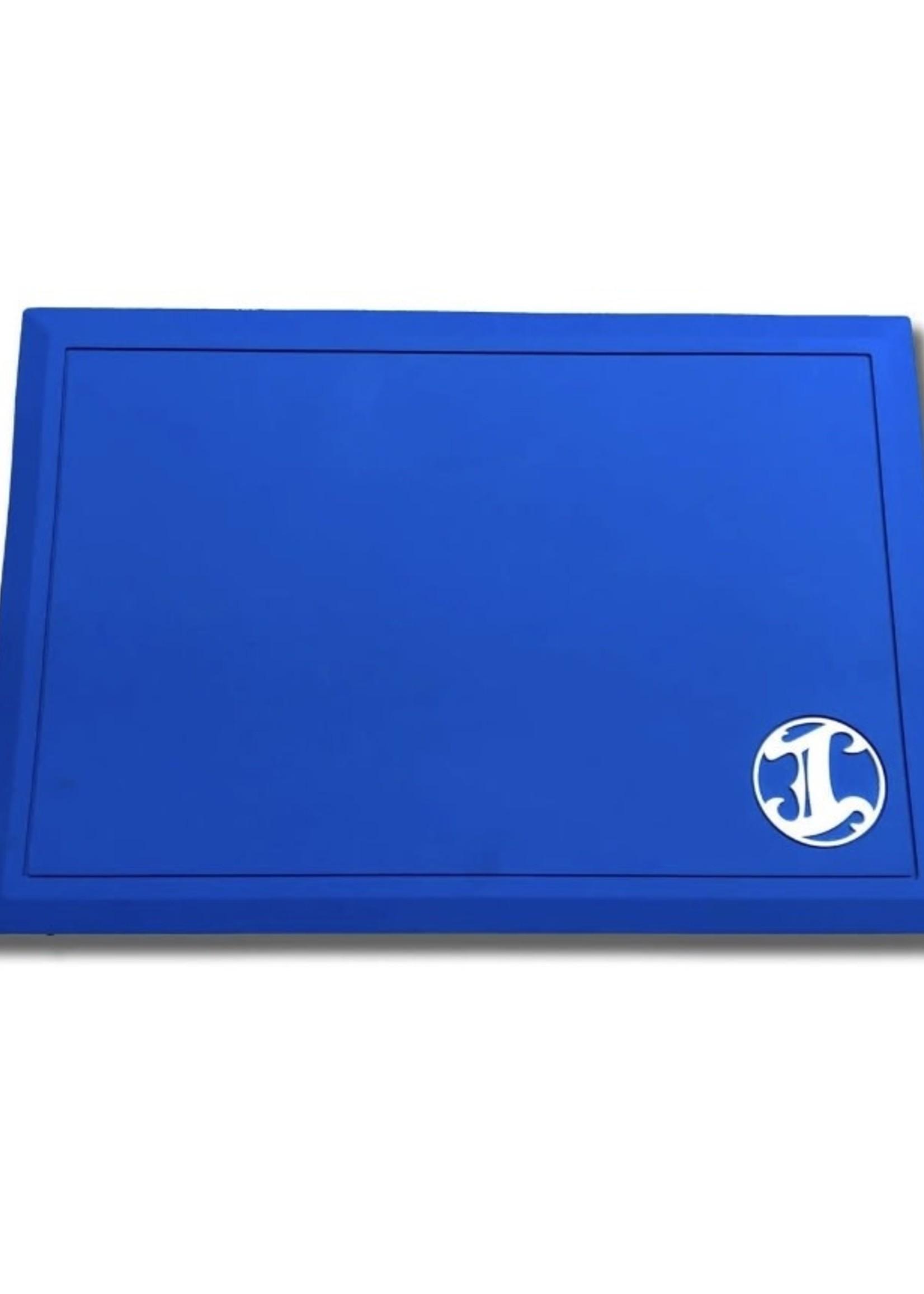 Irving Barber Co Irving Workstation Mat- Blue w/ White Logo