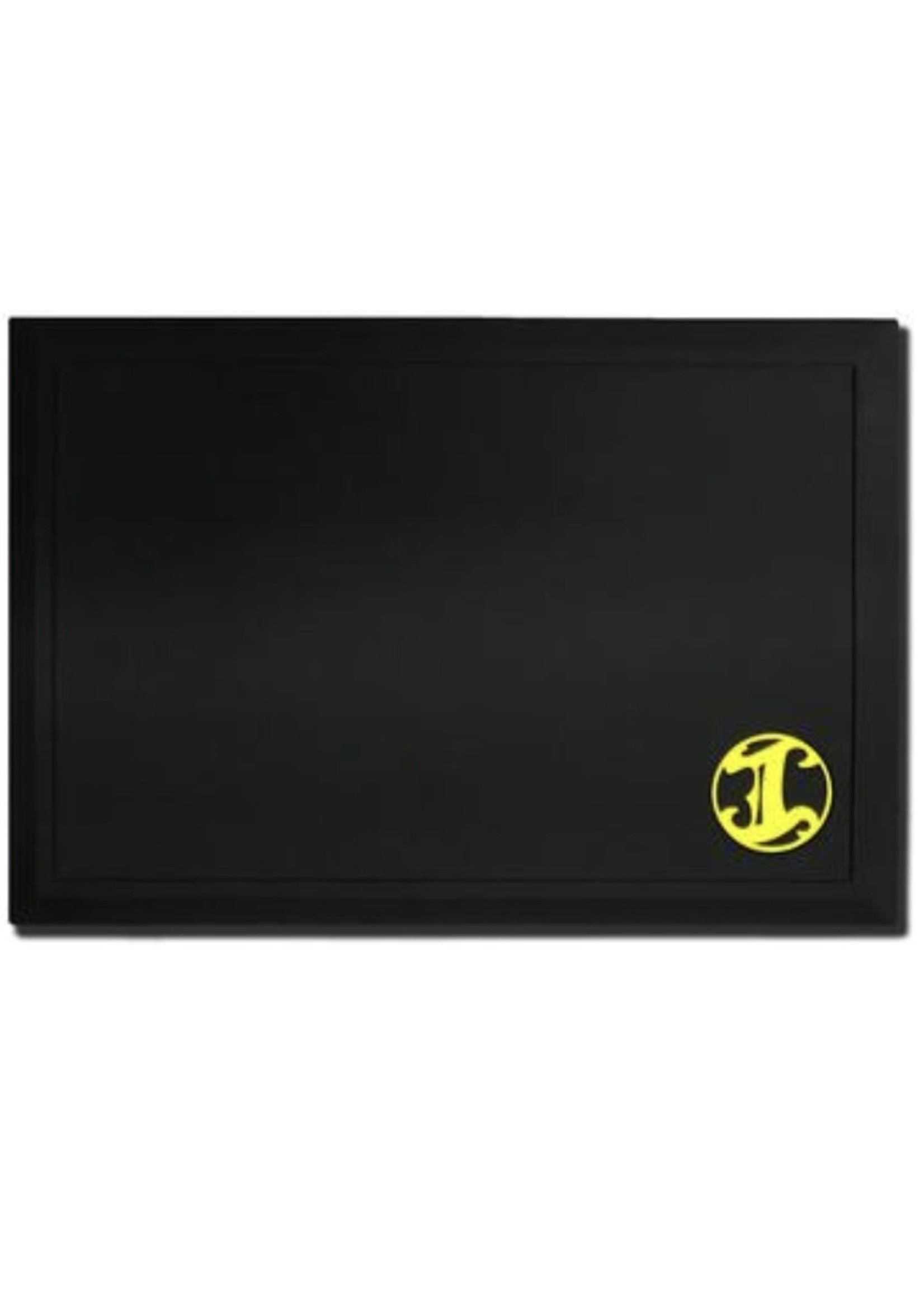Irving Barber Co Irving Workstation Mat- Black w/ Yellow Logo