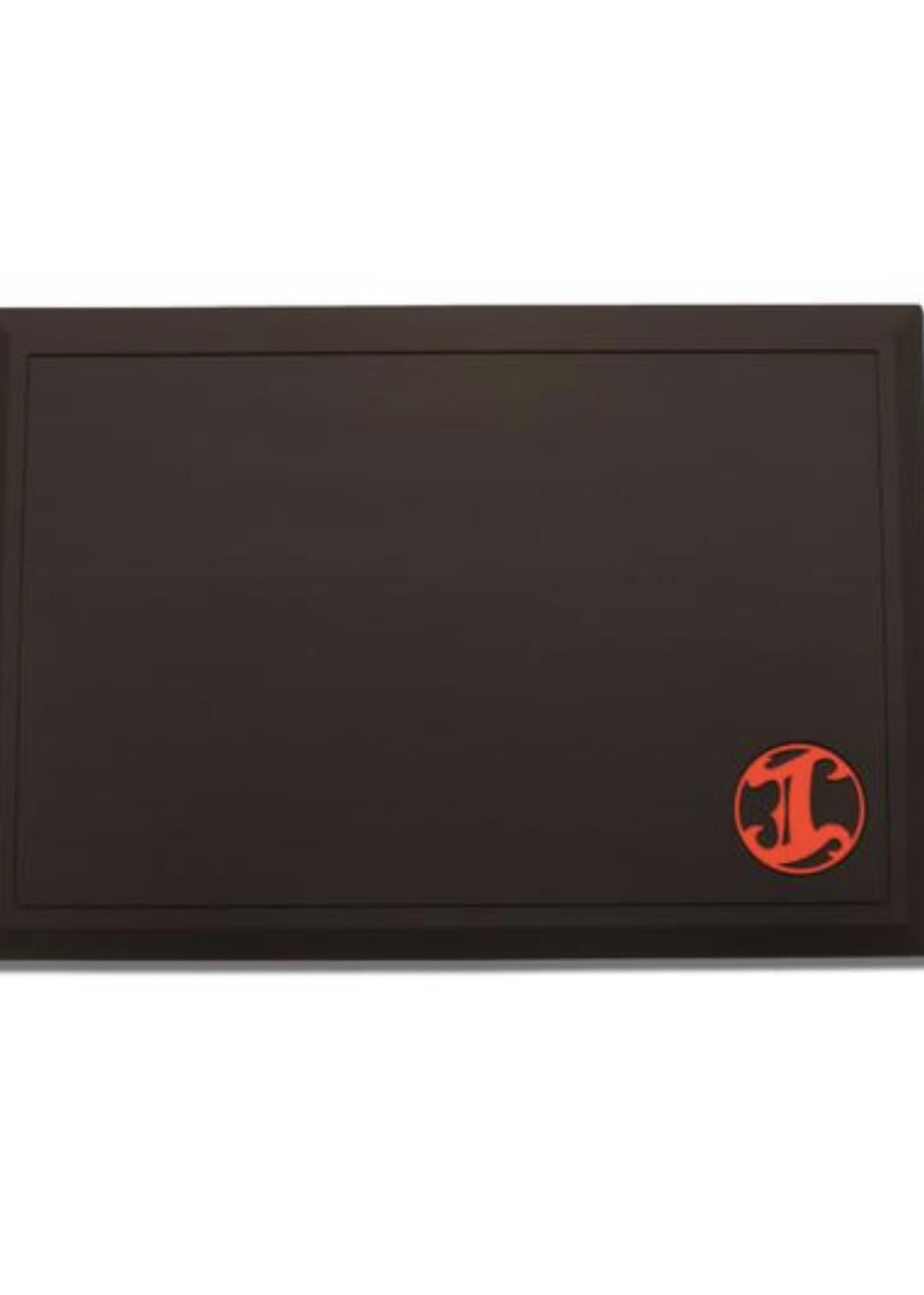 Irving Barber Co Irving Workstation Mat- Black w/ Red Logo