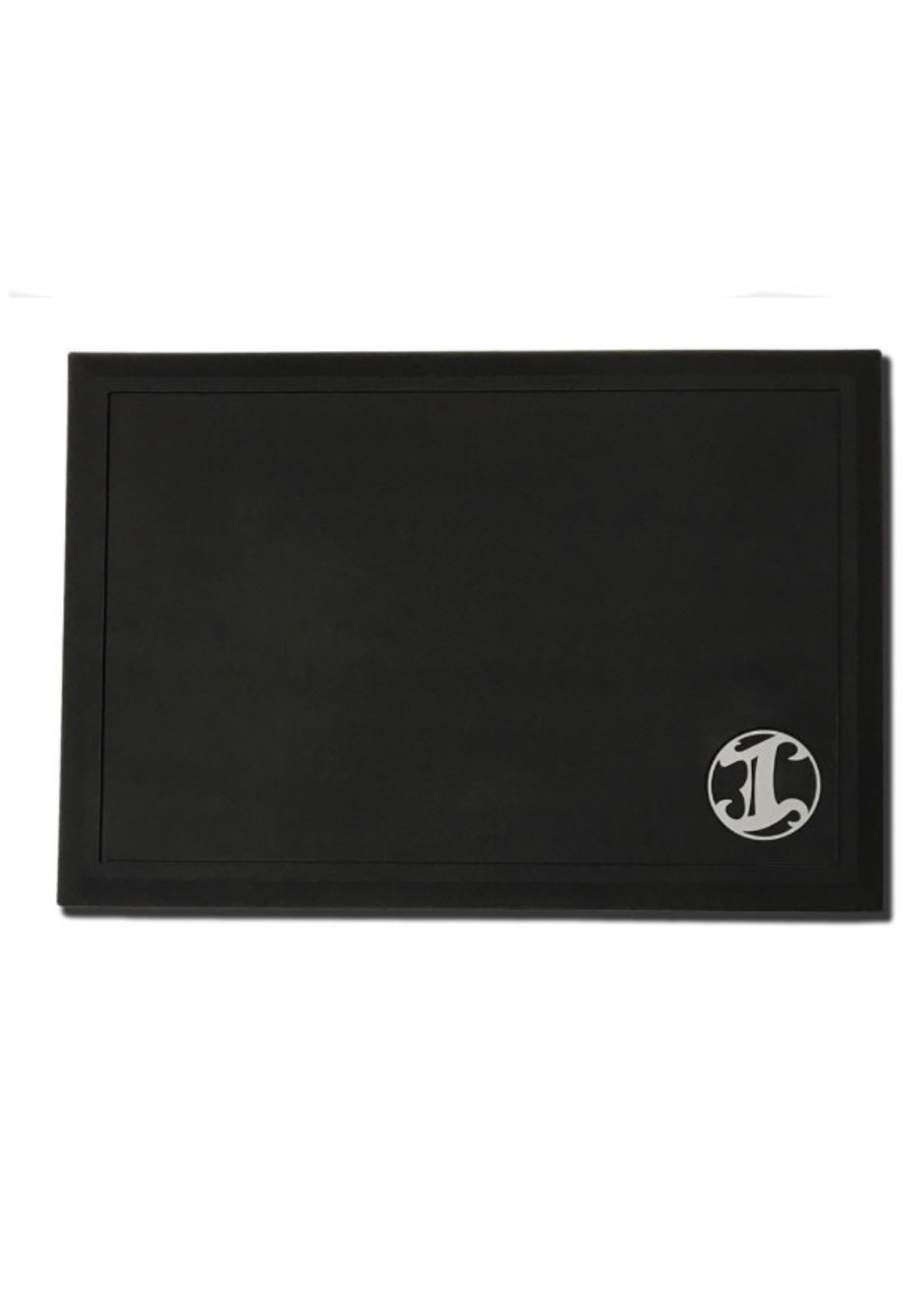 Irving Barber Co Irving Workstation Mat- Black w/ White Logo