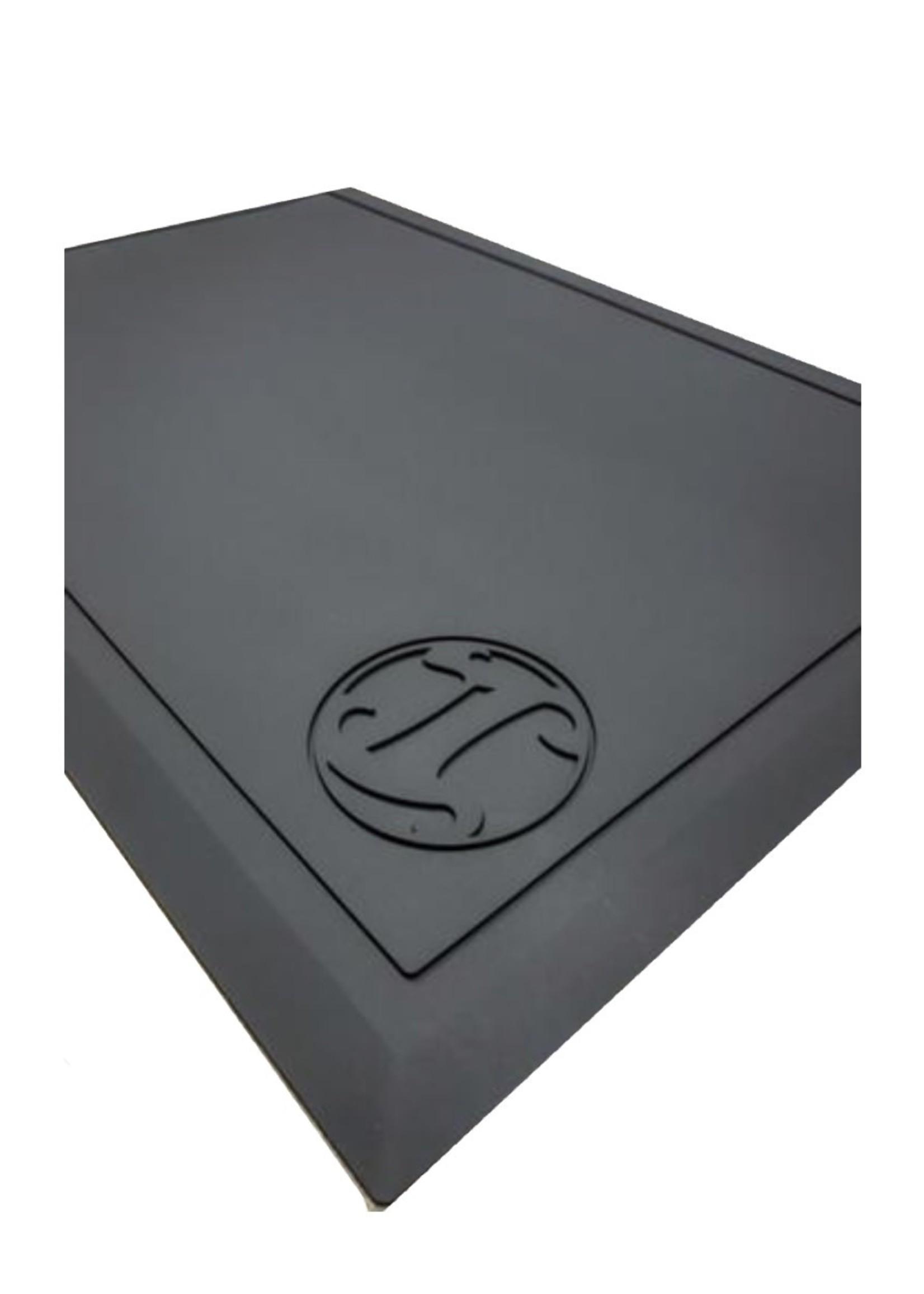 Irving Barber Co Irving Workstation Mat- Black w/ Black Logo