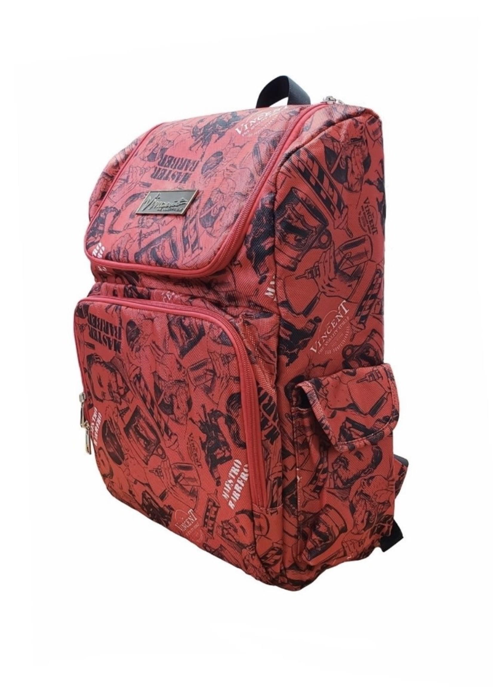 Vincent Vincent BackPack Vintage- Red