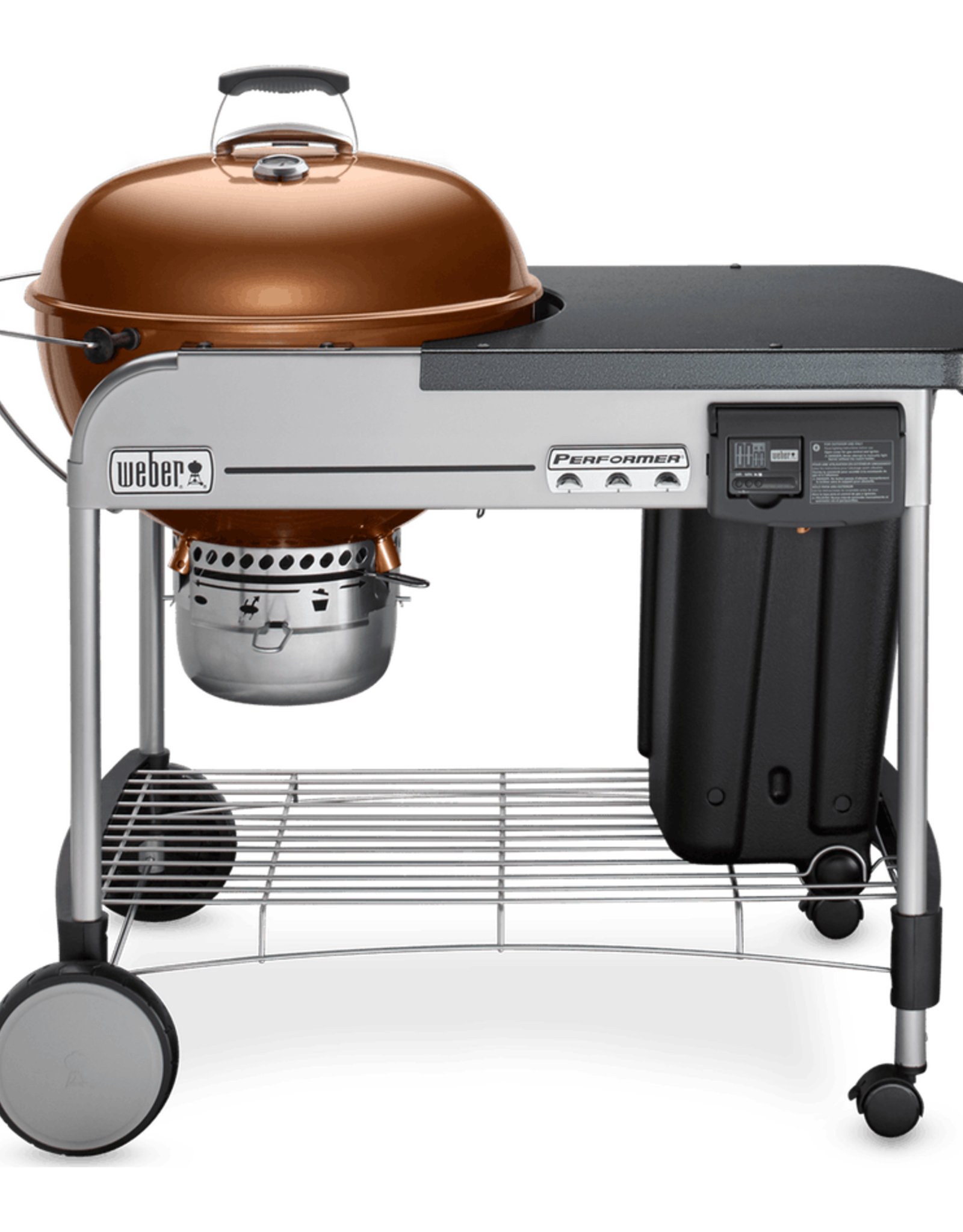 """Weber Weber Performer Deluxe 22"""" Charcoal Grill, Copper 15502001"""