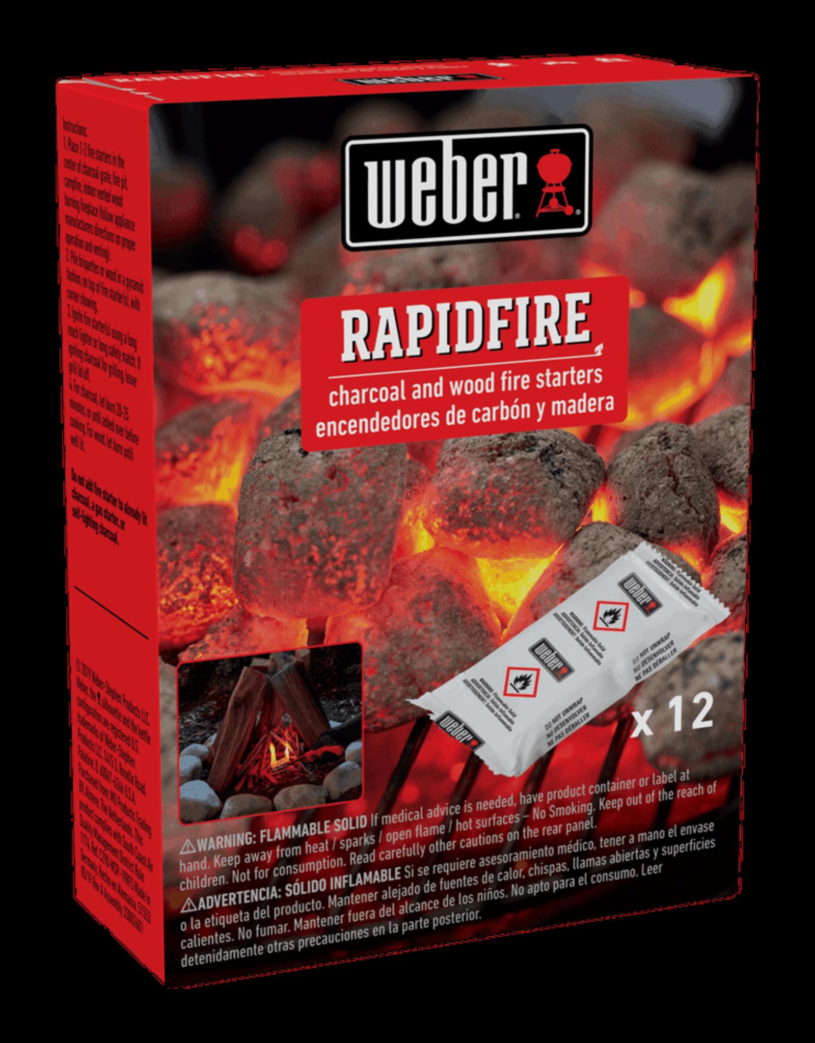 Weber RapidFire Fire Starters 12pc