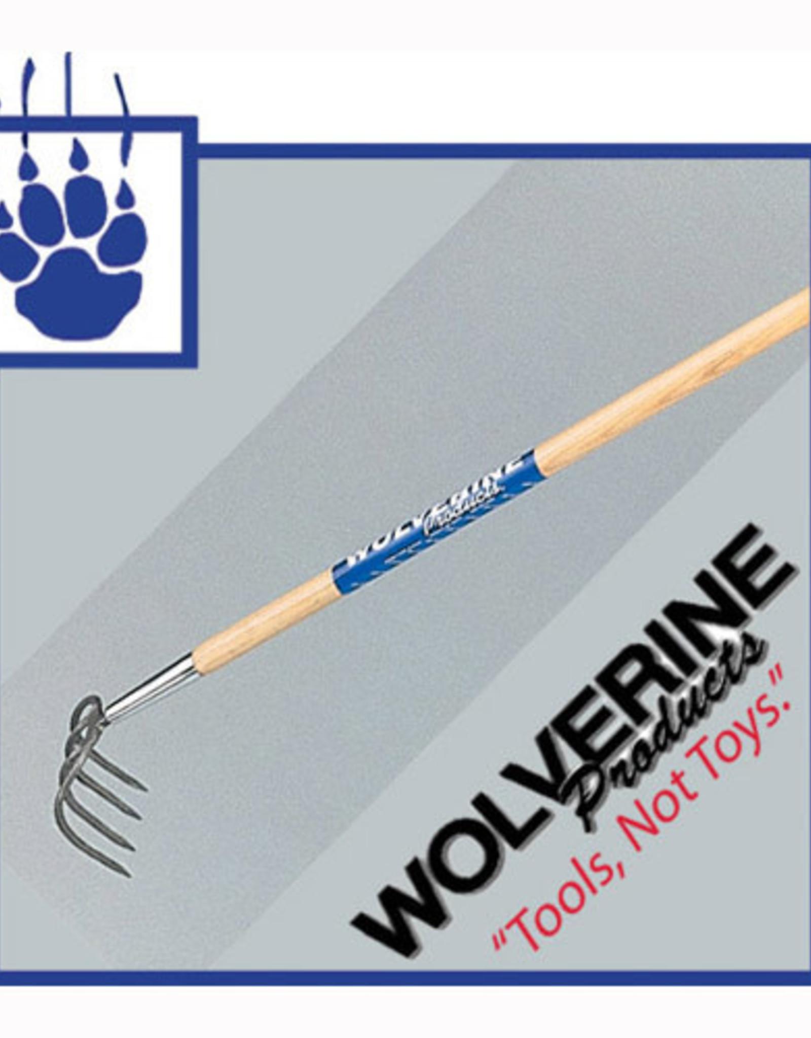"Wolverine Wolverine 4 Tine Cultivator, 54"" wood handle W54FC"