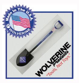 """Wolverine #2 Round Pt Shovel, 30"""" Steel Handle SD600"""