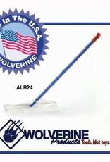 "Wolverine 24"" Aluminum Landscape Rake ALR24"