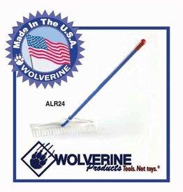 "Wolverine Wolverine 24"" Aluminum Landscape Rake ALR24"