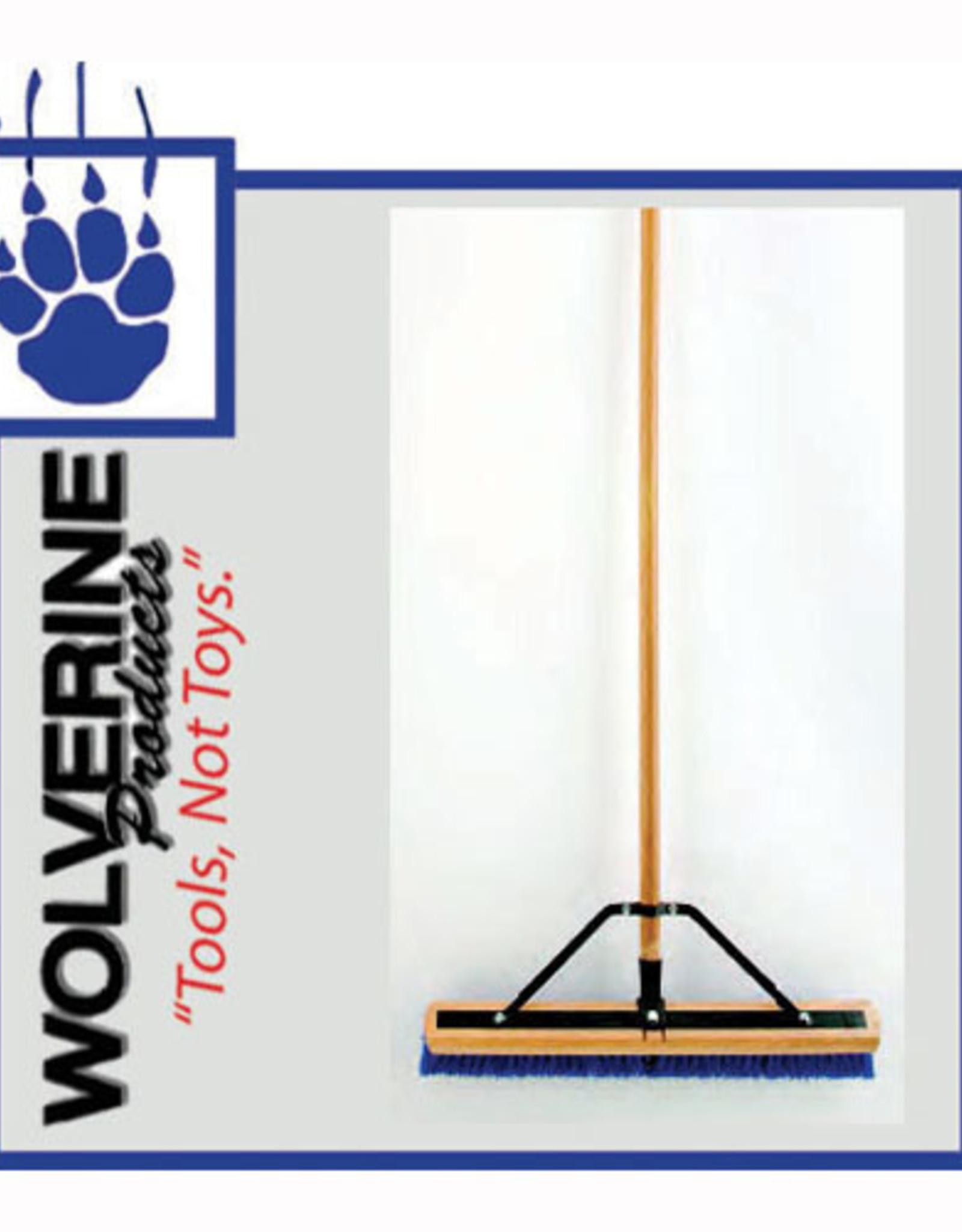 """Wolverine  24"""" Broom, Blue Poly Bristle W24BBP"""