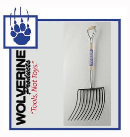 "Wolverine Mulching Fork 10 Tine, 30"" Wood Handle WDH48MF10"