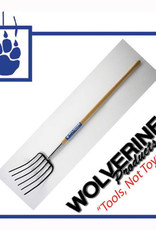 "Wolverine Manure Fork 6 Tine, 54"" Wood Handle W54MF6"