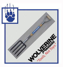 "Wolverine Spading Fork, 30"" wood handle"