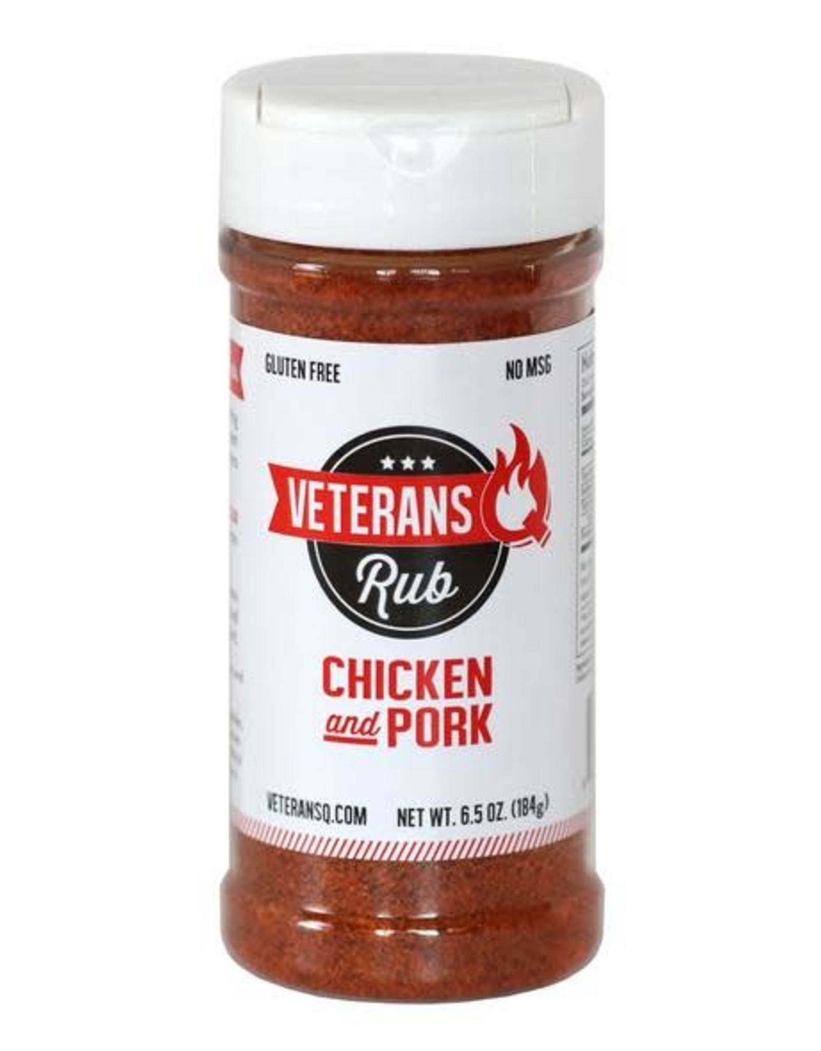 Veteran's Q Chicken & Pork Rub, 6.5oz.