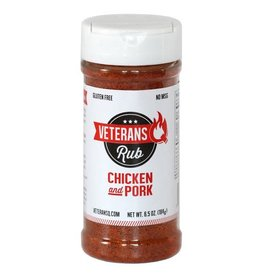 Veteran's Q Chicken & Pork Rub, 6.5oz.