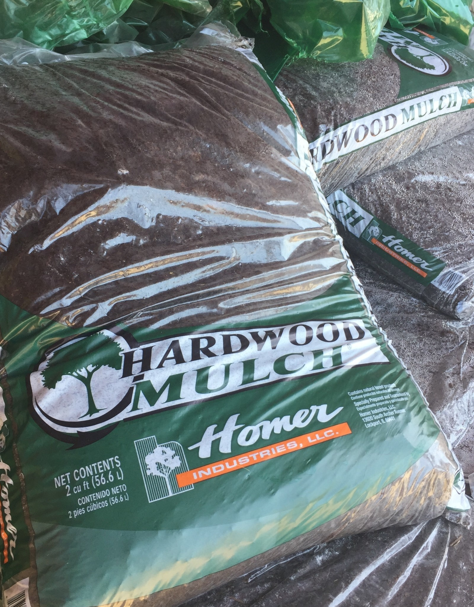 Bean's Blend Hardwood Mulch, 2cf bags