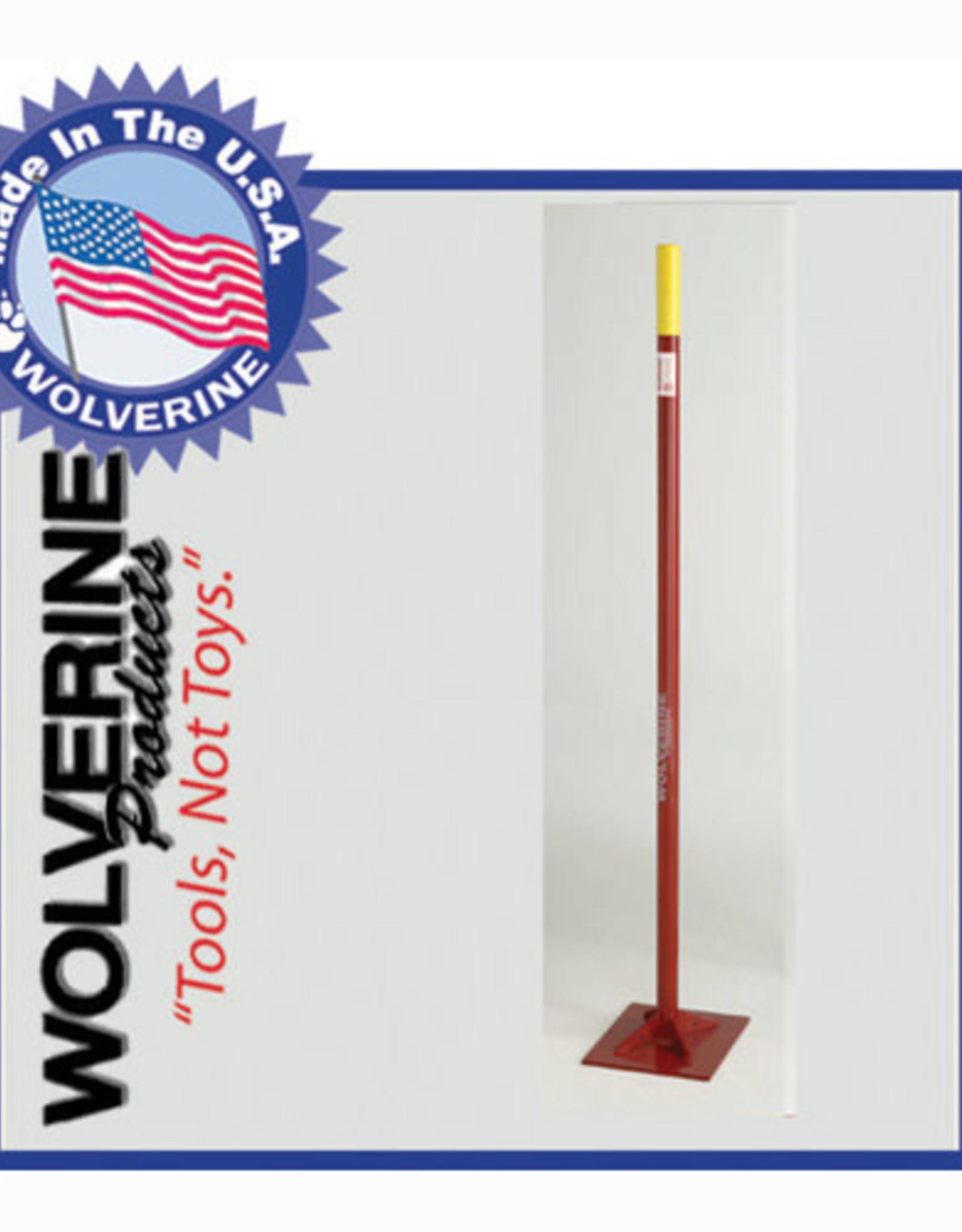 "Wolverine Wolverine Dirt Tamp 10""x10"" 54"" Steel Handle S1010T"