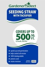 Seeding Straw with  Tackifier