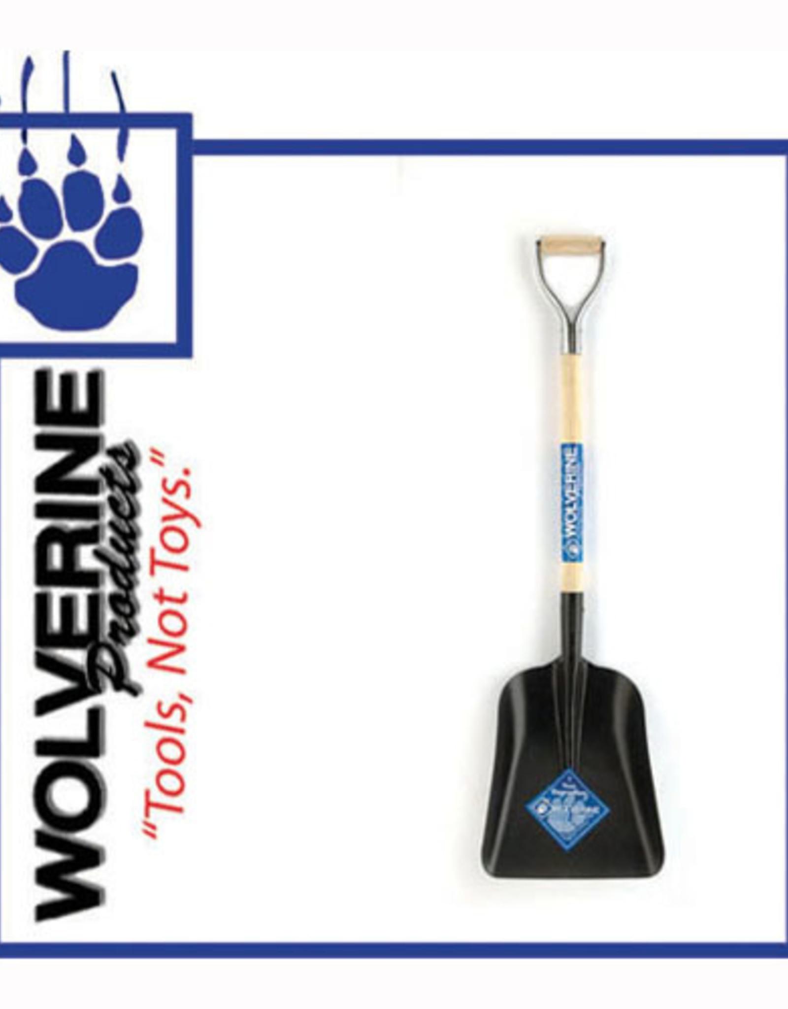 """Wolverine #2 Steel Scoop Shovel, 30"""" Wood Handle WD2GP"""
