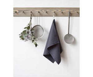 Dark Grey Linen Tea Towel