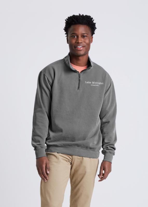 Fish Back Quarter Zip Sweatshirt
