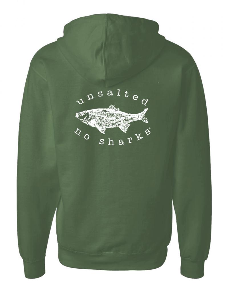 Fish Back Full Zip Hoodie